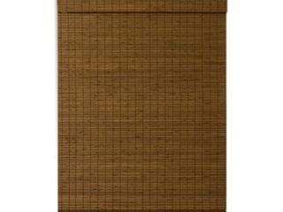 Cape Cod Cordless Flatweave Bamboo Roman Shade with Valance  Maple