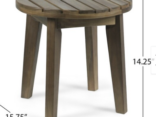 Julian Outdoor Acacia Wood Teak Finish Table