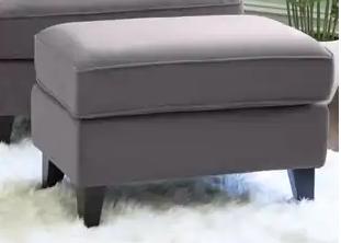 Abbyson Modular Fabric Gray Ottoman