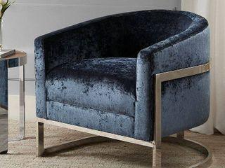 Kiley Accent Chair Blue Chrome Retail 545 99