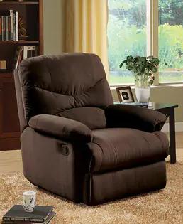 Copper Grove Brettenham Plush Chocolate Microfiber Recliner Chair Retail 279 49