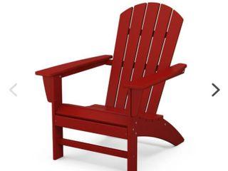 Nautical Adirondack Chair Crimson Red