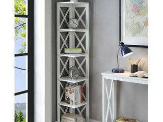 Convenience Concepts Oxford 5 Tier Corner Bookcase  White