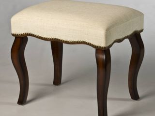 Hillsdale Furniture Hamilton Vanity Stool with Nail Heads  Burnished Oak