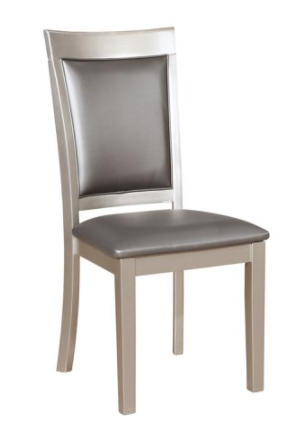 Round Hill Furniture Silver Side Chairs