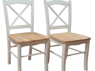 Tiffany Cross Back Chairs Set Of 2