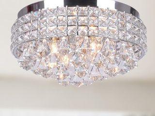 Antonia Ornate Crystal Flush Mount Chandelier in Chrome Retail 152 99