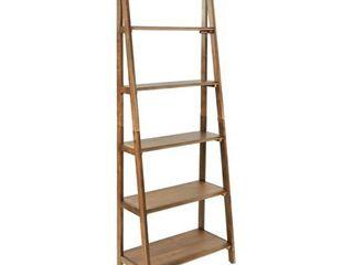 OSP Home Furnishings Bandon ladder Bookcase in Ginger Brown Finish