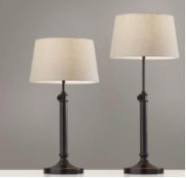 Mitchell 2 PC  Table lamps Cream and Black