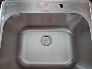 Rivers Edge top mount stainless steel sink 22x24x12