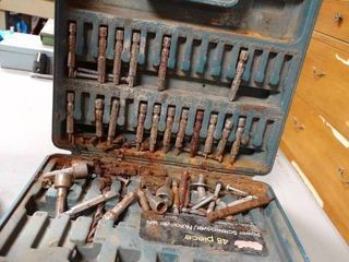 lot of Power Screwdriver Nutdriver Bits Set in Case