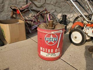 Derby 5 Gallon Oil Can