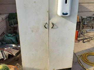 Large Metal Two Door Cabinet