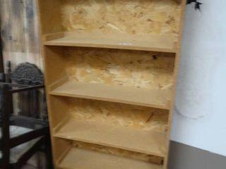 Wood bookshelf storage shelf