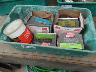 Storage box w  assorted hardware   misc
