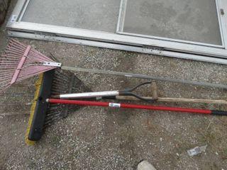 Rakes broom