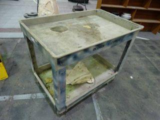 2 shelf warehouse cart on wheels