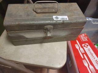 Metal toolbox w  contents