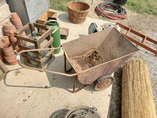 Vintage Metal Garden Cart