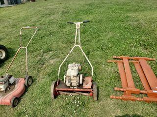 motorized push reel mower