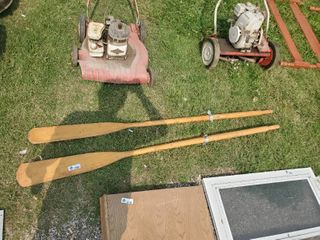 large Wooden Boat oars