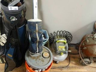 5 Gallon Bucket of Golf Balls and Golf Ball Bag Shag