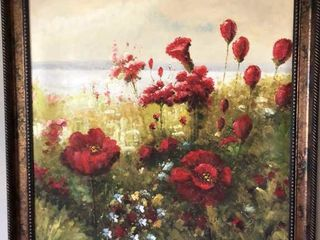 Red Flowers Oil Painting