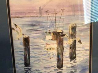 M  Carstens Watercolor Boat