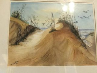 M  Carstens Sand Dunes Watercolor
