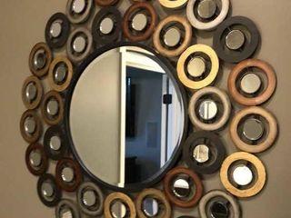 large Circles Decorative Mirror