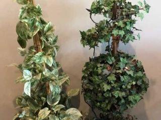 2 Topiary Plants