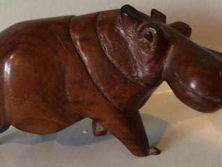 Hand Carved Hippopotamus