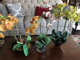 4 Fake Orchid Plants