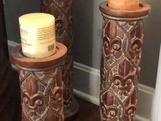 3 Copper Color Candle Stands