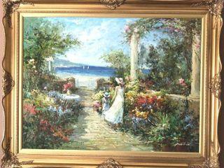 Antonio Beach Oil Painting