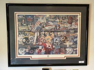 Framed Merv Corning NFL Poster