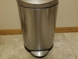 Small stainless steel trashcan