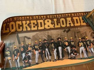Wichita State University baseball poster