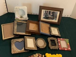 Assorted small picture frames