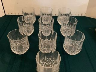 Set of 10 glasses
