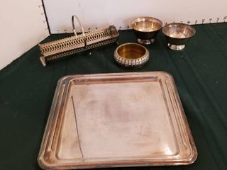 Assorted Silverplate items