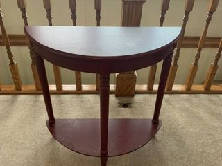 Half moon side table approximately 3 feet high 2 1 2 feet wide