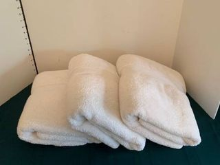 Three large bath towels