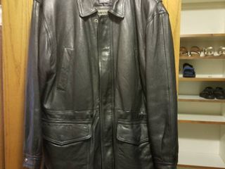 Men s thinsulate Mirage leather coat size large
