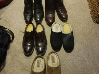 Men s boots  shoes and slippers size 10D