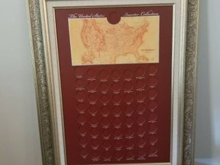 Framed for US quarter collection 28 x 21
