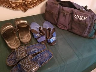 Men s sandals with totes  2 are size 10  1 is size 7