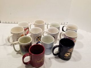 Assorted coffee cups