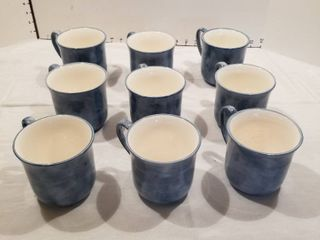 Set of 9 coffee mugs   Eddie bauer
