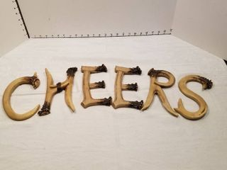 Cheers sign antlers